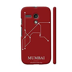 Colorpur Mumbai Train Map Designer Mobile Phone Case Back Cover For Motorola Moto G1   Artist: Sukhada Apte
