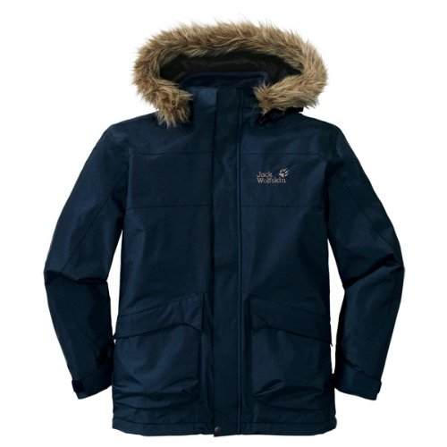 Jack Wolfskin Jungen Parka Boys Nebraska, Night Blue, L (164/170), 1603111-1010604