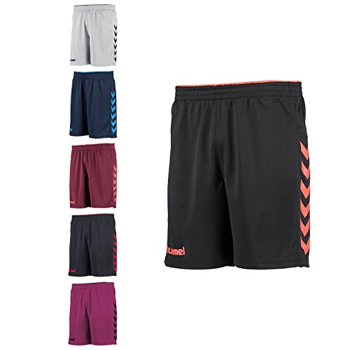 Hummel-Pantaloncini Short Kinetic 13018bambino Black/Grenadine 14 anni
