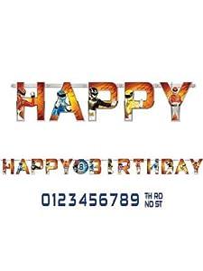 Power Rangers Megaforce Jumbo (add an age) Birthday Banner from Amscan