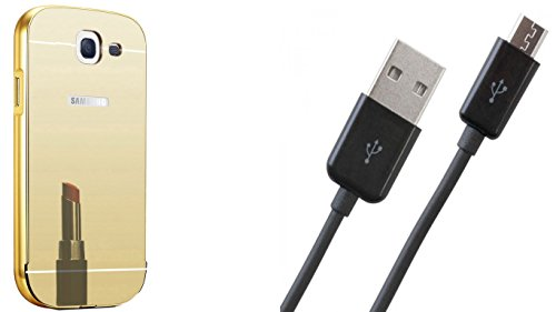 Novo Style Luxury Mirror Effect Acrylic back + Metal Bumper Cover for Samsung Galaxy Note 2 7100  Golden +  Micro USB Data Sync Charging Cables for - 1 Feet  available at amazon for Rs.349