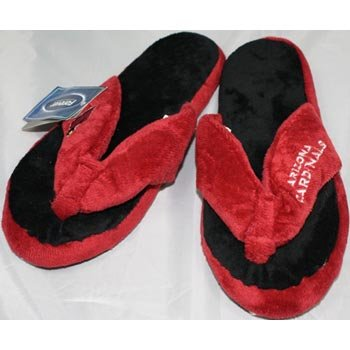 Arizona Cardinals NFL Flip Flop Thong Slippers - L at Amazon.com