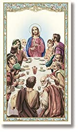 BULK The Last Supper Apostles' Creed Christian Prayer Card