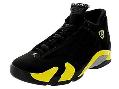 Air Jordan XIV (14) Retro - Black / Vibrant Yellow-White, 10 D US
