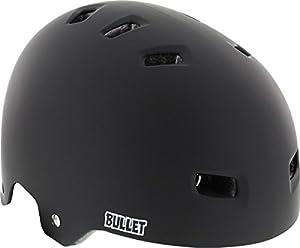 Bullet Deluxe Matte Black Large / X-Large Skateboard Helmet - CE/CPSC Certified