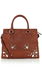 Leather and Jewel Tote