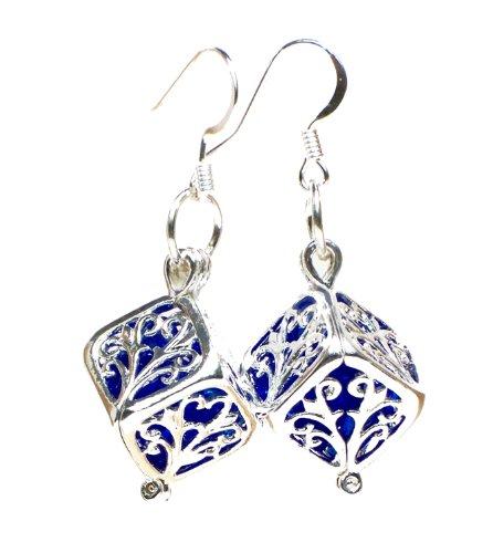 recycled-cobalt-noxzema-bottle-silver-filigree-box-earrings