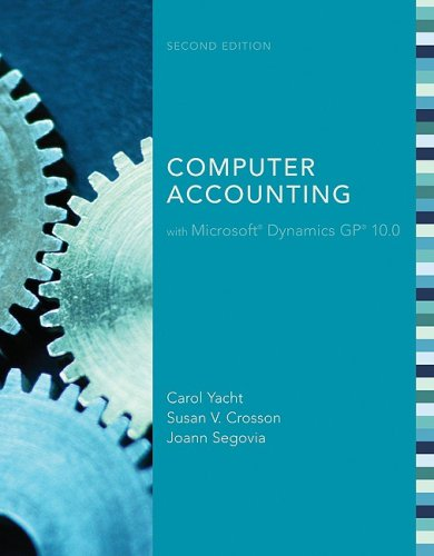 MP Computer Accounting with Microsoft Dynamics GP 10.0