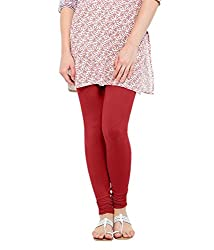 Lard Women's Cotton Leggings (Lard9_Red_Free size)