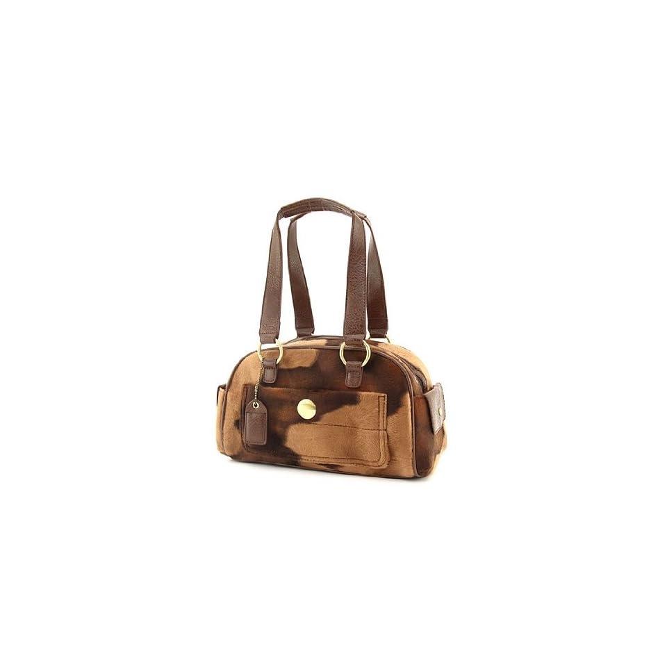 Cow Handbags Animal Print Purses Fur Tote Bag (Coffee)