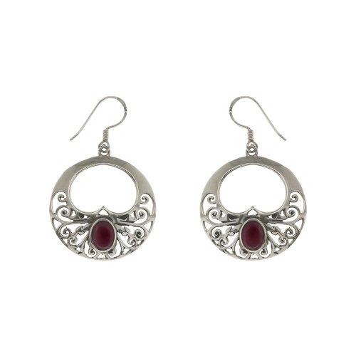 Artist Jewelry Silver Earrings for Women Onyx Gemstone