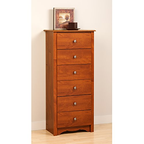 Prepac CDC-2354 Monterey 6-Drawer Lingerie Chest (Cherry)