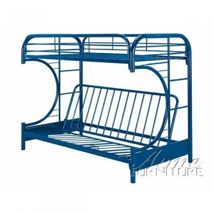 ACME Furniture 02091W-NV Eclipse Futon Bunk Bed, Twin/Full, Navy (Twin Over Full Futon compare prices)
