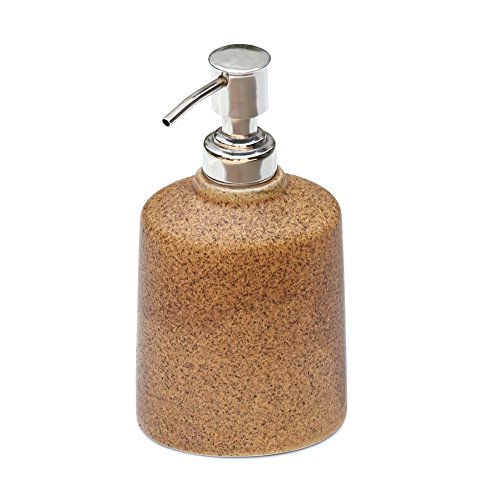 souvnear-163-cm-fait-a-la-main-ceramique-brun-distributeur-de-savon-avec-pompe-de-poussee-facile-dis