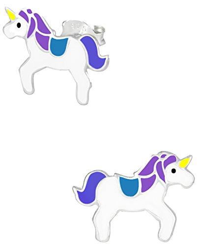 925-Sterling-Silver-Hypoallergenic-Unicorn-Stud-Earrings-for-Girls-Nickel-Free