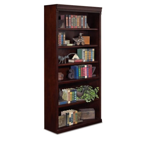 Huntington Club Six Shelf Traditional Bookcase 72 H