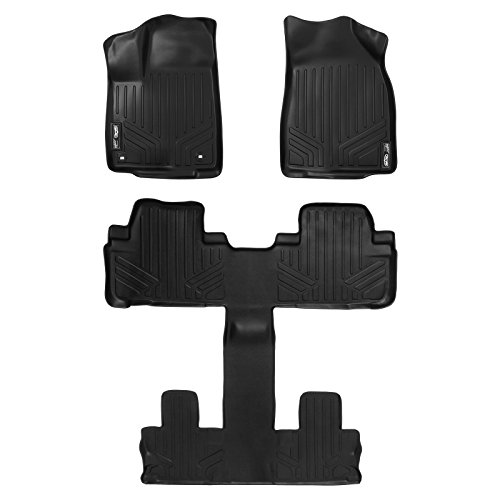 MAXFLOORMAT Floor Mats for Toyota Highlander With Bucket Seats (2014-2016) (3 Row Set) (Black) (2014 Toyota Accessories compare prices)