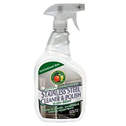 Earth Friendly Products Proline PL9330/32 Stainless Steel Cleaner and Polish, 32 oz Trigger Spray (Case of 12)