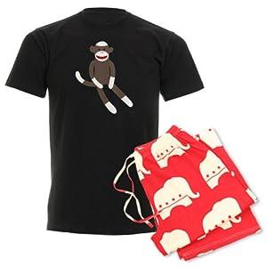 CafePress Sock Monkey Men's Dark Pajamas Men's Dark Pajamas