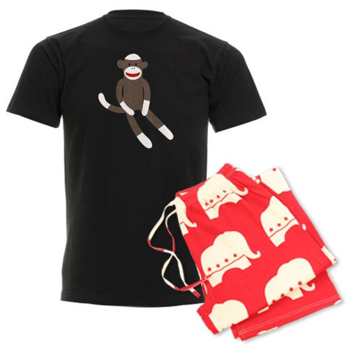 CafePress Sock Monkey Men's Dark Pajamas Men's Dark Pajamas