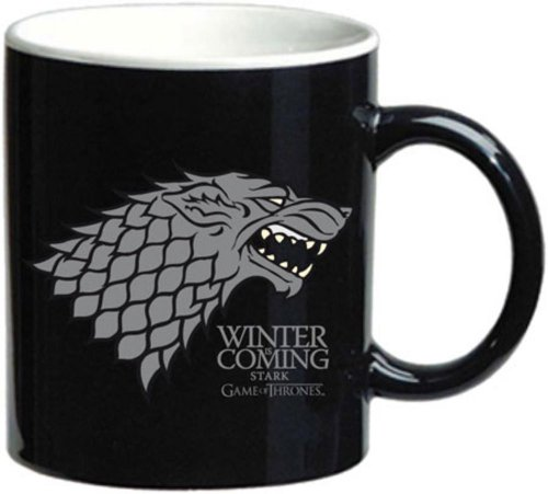 SD Toys SDTIKO00182 - Tazza in ceramica con disegno Stark Game Of Thrones, color negro /branco