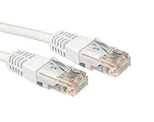 Câble 5m BLANC réseau CAT6 - Premium Quality (100% fil de cuivre) - RJ45 - Ethernet - Patch - LAN - 10/100/1000 - Gigabit