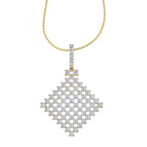 TBZ - The Original 18k Yellow Gold and Diamond Party Wear Designer Pendant