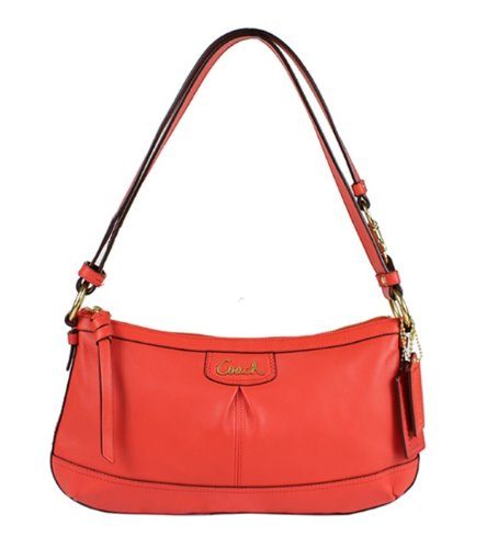 Coach   Coach Park Leather East-West Duffle Shoulder Handbag
