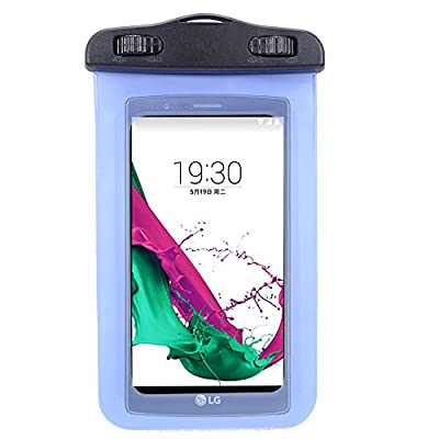 Universal Protective Waterproof Bag / Pouch / Cover / Case for Nokia Lumia 640/ 920 / 635 / BLU Win HD / W510L with Responsive Screen Protector Windows and Strap Fit up to 5.5 Inch Ios Windows Android Smart Phone + SumacLife Wisdom Courage Wristband by Wo