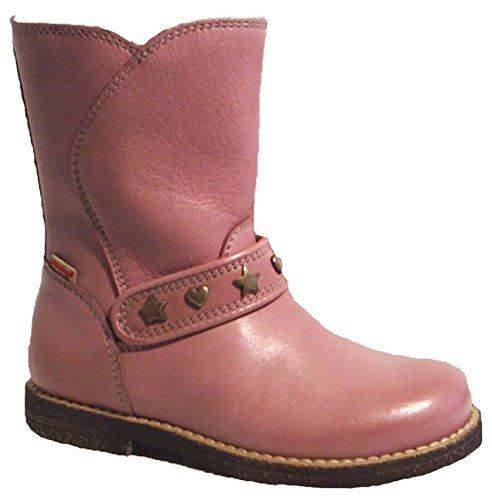 FRODDO Leder Stiefel rosa Boots Schafwolle warm Reißverschluss günstig kaufen