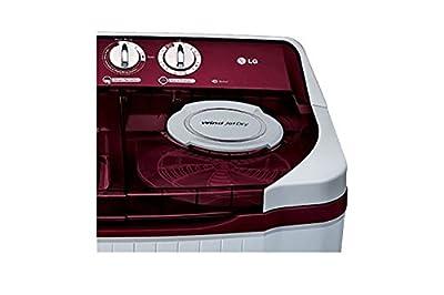 LG P9032R3S Semi-automatic Washing Machine (8 Kg, Burgundy)