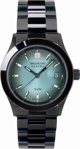 SWISS MILITARY (スイスミリタリー) 腕時計 ML/190 PVDブラック ペパーミント文字盤 メタルブレスレット メンズ