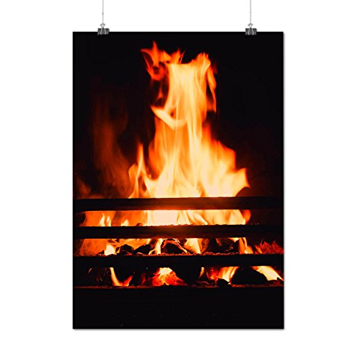 burning-fire-place-cozy-house-matte-glossy-poster-a2-60cm-x-42cm-wellcoda