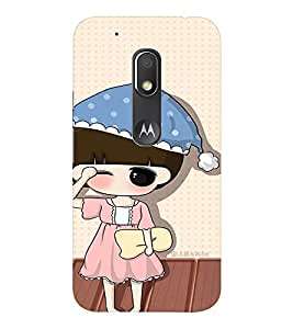 EPICCASE Sleepy little girl Mobile Back Case Cover For Moto Play (Designer Case)