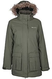 Mountain Warehouse Canyon larga para mujer Chaqueta impermeable Caqui 36
