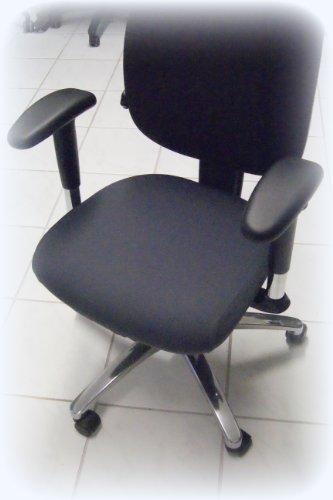 Fts Exclusiv - Rivestimento per sedia da ufficio girevole Antracite