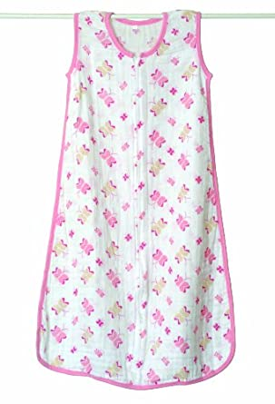aden + anais Muslin Sleeping Bag, Princess Posie (Butterfly, 0-6 Months)