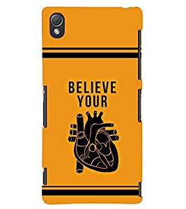 printtech Believe Quotes Back Case Cover for Sony Xperia Z3::Sony Xperia Z3 D6653 D6603