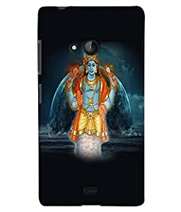 Fuson Premium Sri Vishnu Printed Hard Plastic Back Case Cover for Microsoft Lumia 540