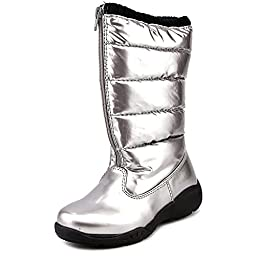 Tundra Puffy Boot (Little Kid/Big Kid),Silver,11 M US Little Kid
