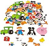 Pack of 100 - Foam Farm Animal Stickers - Great Farm theme party loot bag fillers