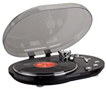 Crosley CR6004A-BK Oval USB Turntable (Black)