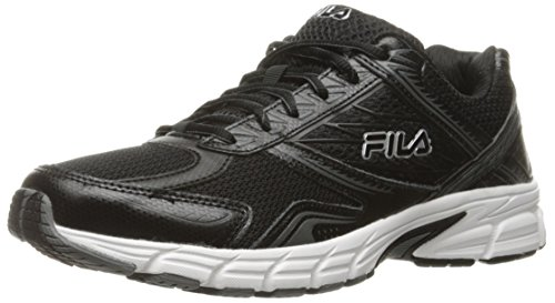 Fila Men's Royalty 2 Running Shoe, Black/Black/Metallic Silver, 10 M US