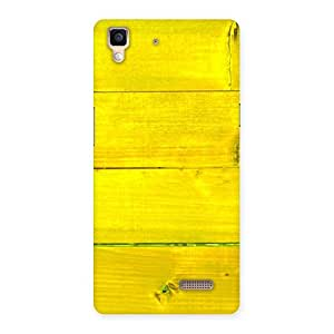 Ajay Enterprises Yellow wall Back Case Cover for Oppo R7