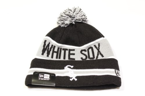 New Era The Coach Chicago White Sox Cuffed w/ Pom Knit/Beanie Hat!! at Amazon.com