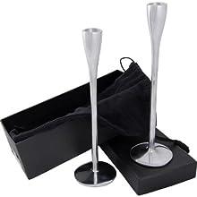 Ddi Premium Designer Series Aluminum Candle Sticks (Pack Of 12)