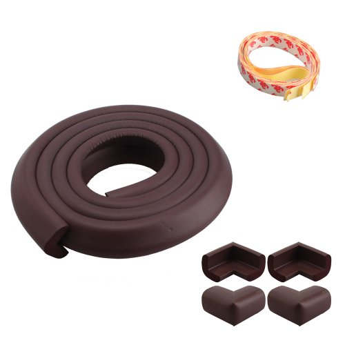 2M Baby Child Kids Safety Safe Table Desk Edge Cushion Protector Coffee W/ Tape + 4 Corner Guards