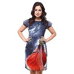 Fbbic Women's Georgette Cap Sleeve Dress (Multi)