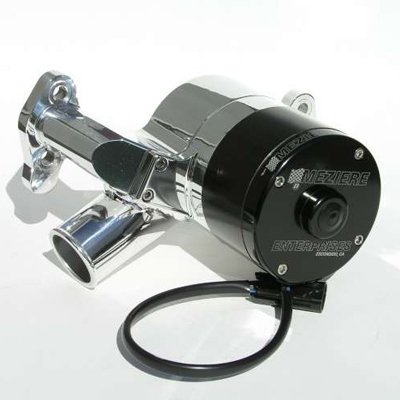 Meziere Wp301U Electric Water Pump Chevy Small Block 55 Gpm Polished