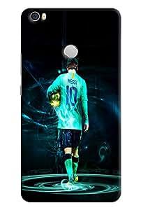 Omnam Lionel Messi Giving Back Pose Printed Designer Back Cover Case For Xiaomi Mi Max